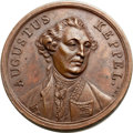 Betts Medals, Betts-Unlisted. BHM-214, Eimer-774. (1778) Battle of Ushant,Augustus Keppel. Bronze. XF. ...