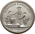 Betts Medals, Betts-608. Eimer-803. 1783 Peace of Versailles. White Metal, withcopper plug. XF. ...