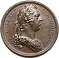 Betts Medals, Betts-148A. 1721 Guadaloupe Fortified. Bronze. XF. ...