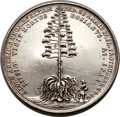 Betts Medals, Betts-108. 1711 American Aloe Plant. Silver. XF....