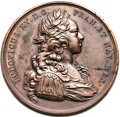 Betts Medals, Betts-148. 1721 Guadaloupe Fortified. Bronze. VF....