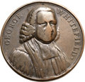 Betts Medals, Betts-526 variant. 1770 Rev. George Whitefield. Bronze. VG....