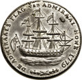 Betts Medals, Betts-563. 1778 Rhode Island Ship Medal. Pewter. XF. Breen-1142,W-1745, High R.6.. ...