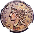 Proof Large Cents, 1838 1C PR65 Brown NGC. N-11, Low R.6 as a Proof. Our EAC GradePR62....