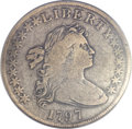 Early Dollars, 1797 $1 10x6 Stars, Large Letters Fine 12 PCGS. B-3, BB-71, R.2....