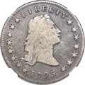 Early Dollars, 1795 $1 Flowing Hair, Two Leaves VG10 NGC. B-1, BB-21, R.2....