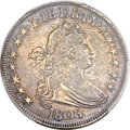Early Half Dollars, 1806 50C Pointed 6, Stem AU55 PCGS. O-115, R.2....