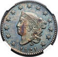 1821 1C MS63 Brown NGC. N-2, R.1. Our EAC Grade MS60....(PCGS# 1621)