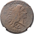 Large Cents, 1793 1C Wreath, Vine and Bars -- Struck on Obverse Brockage,Environmental Damage -- NGC Details. Fine. S-6, B-7, R.3. Our EA...