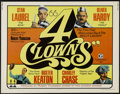 """Movie Posters:Comedy, 4 Clowns (20th Century Fox, 1970). Half Sheet (22"""" X 28""""). Comedy. Directed by Robert Youngson. Starring Stan Laurel, Oliver..."""