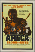 """Movie Posters:Documentary, Africa Addio (Cinemation, R-1970). One Sheet (27"""" X 41""""). Re-released as """"Africa Blood and Guts."""" Documentary. Directed by G..."""