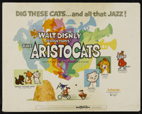 """The Aristocats (Buena Vista, 1970). Half Sheet (22"""" X 28""""). Animated Comedy. Directed by Wolfgang Reitherman..."""