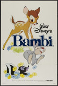 "Movie Posters:Animated, Bambi (Buena Vista, R-1982). One Sheet (27"" X 41"") Tri-folded. Animated Fantasy. Directed by James Algar, Samuel Armstrong, ..."
