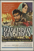 "Movie Posters:Adventure, Barabbas (Columbia, 1962). One Sheet (27"" X 41""). Drama. Directedby Richard Fleischer. Starring Anthony Quinn, Silvana Mang..."