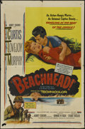 "Movie Posters:War, Beachhead (United Artists, 1954). One Sheet (27"" X 41""). War.Directed by Stuart Heisler. Starring Tony Curtis, Frank Lovejo..."