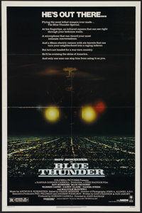 "Blue Thunder (Columbia, 1983). One Sheet (27"" X 41""). Action. Directed by John Badham. Starring Roy Scheider..."