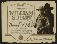 """Breed of Men (Artcraft, 1919). Title Lobby Card (11"""" X 14"""") and Lobby Cards (2) (11"""" X 14""""). Western..."""