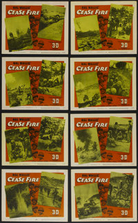 """Cease Fire (Paramount, 1953). Lobby Card Set of 8 (11"""" X 14""""). War Documentary. Directed by Owen Crump. Starri..."""