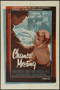 "Chance Meeting (Paramount, 1960). One Sheet (27"" X 41""). Mystery. Directed by Joseph Losey. Starring Hardy Kru..."