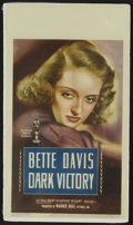 "Movie Posters:Drama, Dark Victory (Warner Brothers,1939). Midget Window Card (8"" X 14"").This three hankie weeper has long been held as a favorit..."