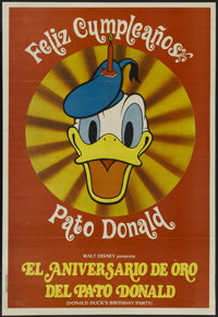 """Donald Duck's Birthday Party (Buena Vista, 1984). Argentinian One Sheet (29"""" X 42.5""""). Animated. Starring Clar..."""