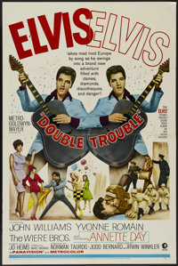 """Double Trouble (MGM, 1967). One Sheet (27"""" X 41""""). Musical Comedy. Directed by Norman Taurog. Starring Elvis P..."""