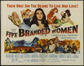 "Movie Posters:War, Five Branded Women (Paramount, 1960). Half Sheet (22"" X 28""). War.Directed by Martin Ritt. Starring Silvana Mangano, Vera M..."