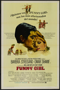 """Funny Girl (Columbia, 1968). Spanish Language One Sheet (27"""" X 41""""). Style A. Musical. Directed by William Wyl..."""