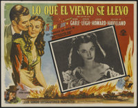 """Gone With the Wind (MGM, R-1968). Mexican Lobby Cards (3) (12.75"""" X 16.5""""). Romance. Directed by Victor Flemin..."""