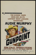 "Gunpoint (Universal, 1966). Window Card (14"" X 22""). Western. Directed by Earl Bellamy. Starring Audie Murphy..."
