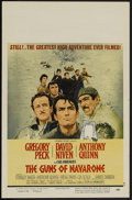 "Movie Posters:Adventure, The Guns of Navarone (Columbia, R-1966). Window Card (14"" X 22"").War. Directed by J. Lee Thompson. Starring Gregory Peck, D..."