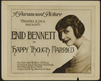 """Happy Though Married (Paramount, 1919). Title Lobby Card (11"""" X 14""""). Comedy/Drama. Directed by Fred Niblo. St..."""