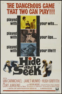 "Hide and Seek (Universal, 1964). One Sheet (27"" X 41""). Action Thriller. Directed by Cy Endfield. Starring Ian..."