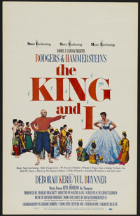 "The King and I (20th Century Fox, R-1965). Window Card (14"" X 22""). Musical Romance. Directed by Walter Lang..."