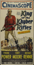 "Movie Posters:Adventure, King of the Khyber Rifles (20th Century Fox, 1953). Three Sheet(41"" X 81""). Adventure. Directed by Henry King. Starring Tyr..."