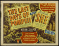"Movie Posters:Adventure, The Last Days of Pompeii/She Combo (RKO, R-1948). Half Sheet (22"" X28"") Style A. Drama/Adventure. Directed by Ernest B. Sch..."