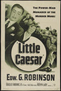 """Movie Posters:Crime, Little Caesar (Warner Brothers, R-1954). One Sheet (26.5"""" X 40.5"""").Crime. Directed by Mervyn LeRoy. Starring Edward G. Robi..."""