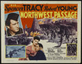 "Movie Posters:Western, Northwest Passage (MGM, R-1956). Half Sheet (22"" X 28""). Adventure.Directed by Jack Conway. Starring Spencer Tracy, Robert ..."