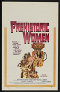 "Movie Posters:Adventure, Prehistoric Women (Warner Brothers, 1967). Window Card (14"" X 22"").Adventure. Directed by Michael Carreras. Starring Martin..."