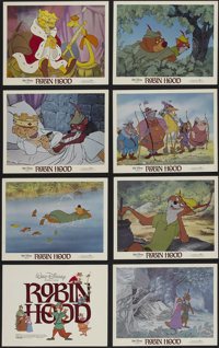 """Robin Hood (Buena Vista, R-1982). Lobby Card Set of 8 (11"""" X 14""""). Animated Musical. Directed by Wolfgang Reit..."""