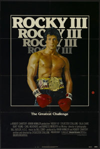 """Rocky III (United Artists, 1982). One Sheet (27"""" X 41""""). Sports Drama. Directed by Sylvester Stallone. Starrin..."""
