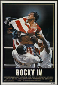 """Rocky IV (United Artists, 1985). One Sheet (27"""" X 41""""). Sports Drama. Directed by Sylvester Stallone. Starring..."""