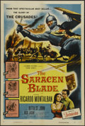 "Movie Posters:Adventure, The Saracen Blade (Columbia, 1954). One Sheet (27"" X 41"").Adventure. Directed by William Castle. Starring RicardoMontalban..."