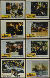 """Sink the Bismarck! (20th Century Fox, 1960). Lobby Card Set of 8 (11"""" X 14""""). War. Directed by Lewis Gilbert..."""