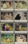 "Movie Posters:Animated, Snow White and the Seven Dwarfs (Buena Vista, R-1983). Lobby CardSet of 8 (11"" X 14""). Animated Musical. Produced by Walt D...(Total: 8 Items)"