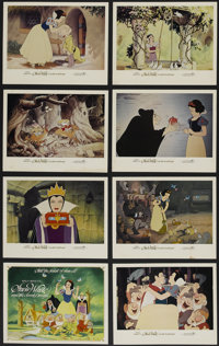 """Snow White and the Seven Dwarfs (Buena Vista, R-1983). Lobby Card Set of 8 (11"""" X 14""""). Animated Musical. Prod..."""