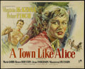 "Movie Posters:War, A Town Like Alice (Rank, 1958). British Half Sheet (22"" X 27.5"").War. Directed by Jack Lee. Starring Virginia McKenna, Pete..."