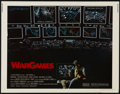 "Movie Posters:Science Fiction, WarGames (MGM/UA, 1983). Half Sheet (22"" X 28""). Thriller. Directedby John Badham. Starring Matthew Broderick, Dabney Colem..."