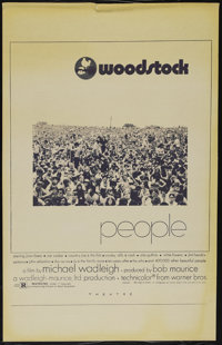 "Woodstock (Warner Brothers, 1970). One Sheet (27"" X 41""). Documentary. Directed by Michael Wadleigh. Starring..."