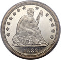 Proof Seated Quarters, 1882 25C PR66 Deep Cameo PCGS. CAC....
